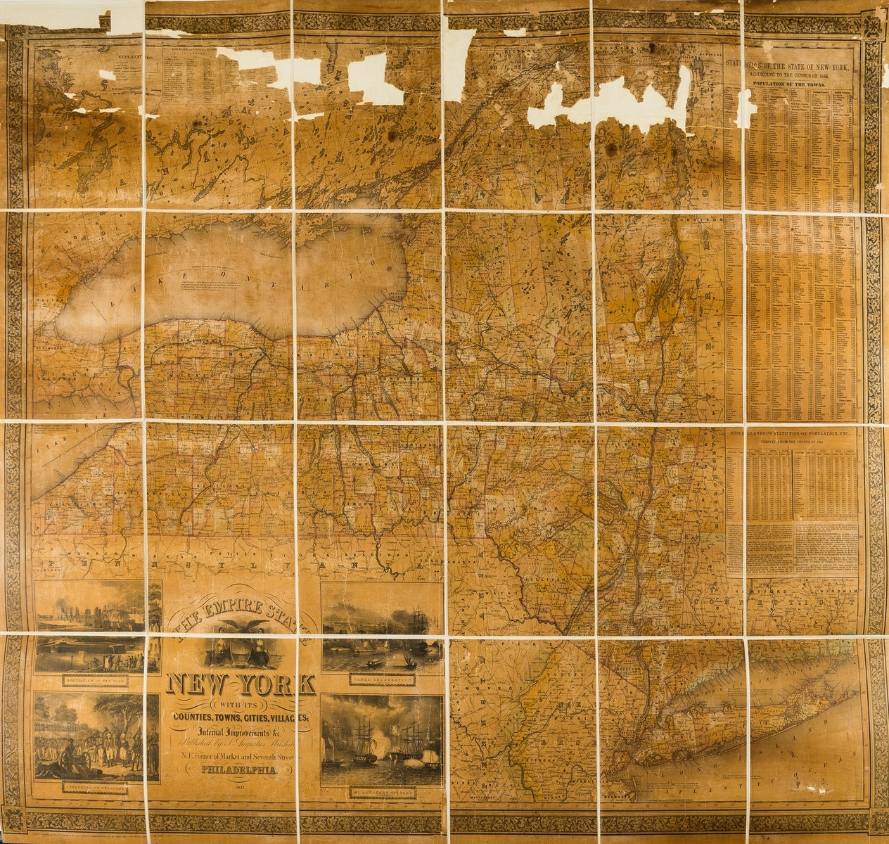 America.- Mitchell, Jr. (S. Augustus) The Empire State New York with it's Counties, Towns, Cities, …