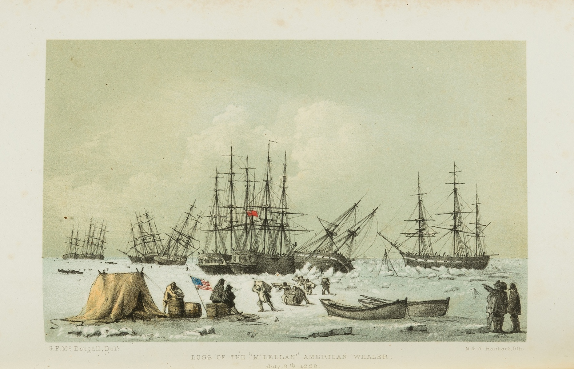 """Polar.- Arctic.- M'Dougall (George F.) The Eventful Voyage of H.M. Discovery Ship """"Resolute"""" to …"""