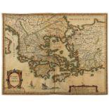 Greece.- Speed (John) Greece, 1676.