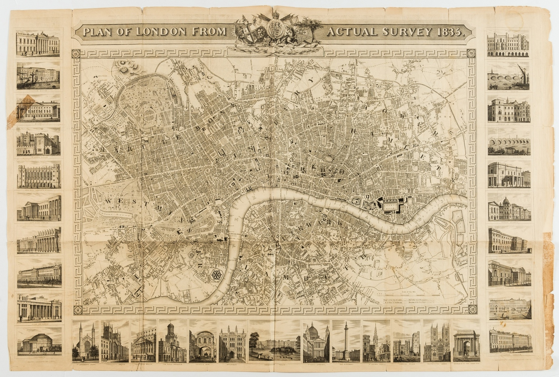 Shury (John) Plan of London From Actual Survey 1835.