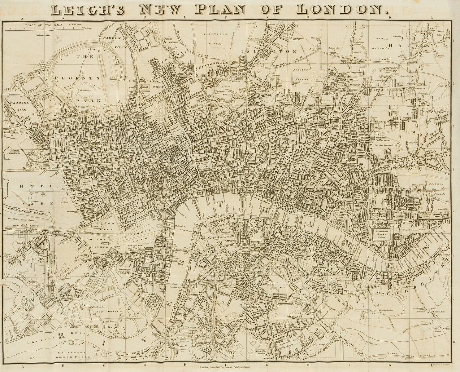 London.- Leigh (Samuel) Nouveau Tableau de Londres, 1825.