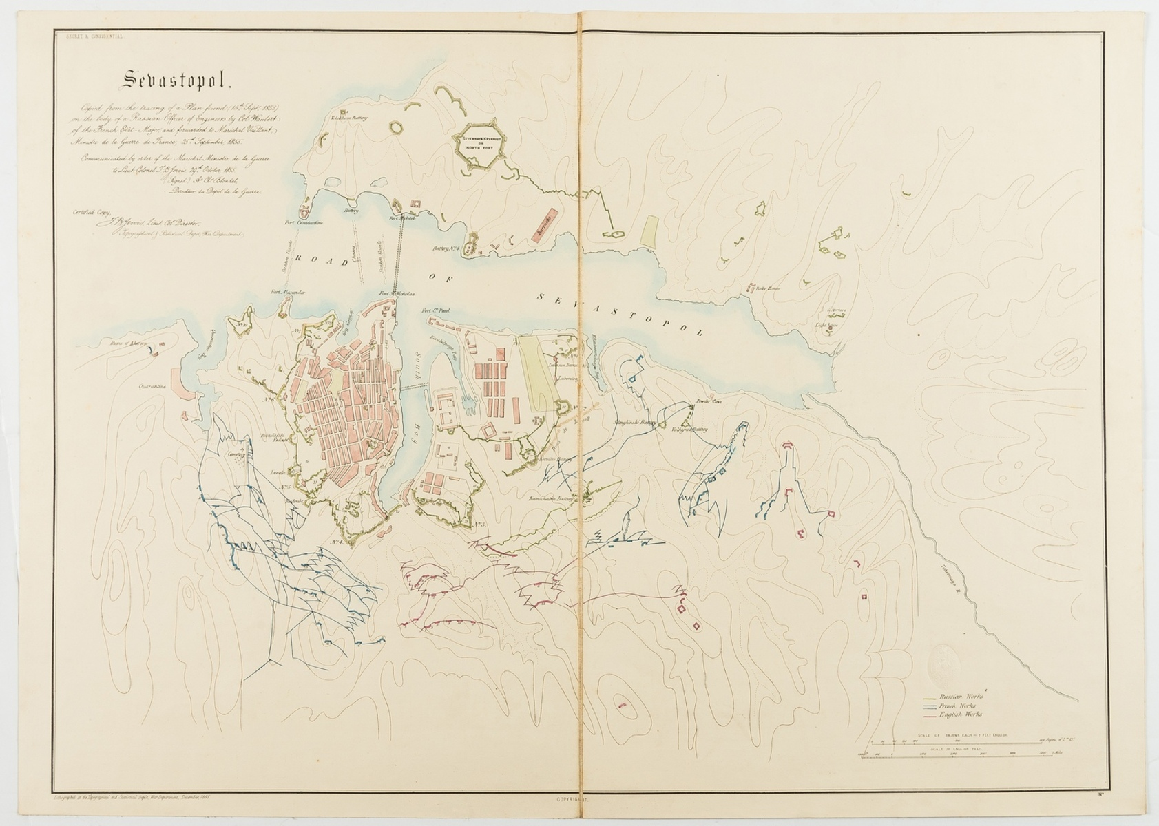 Russia.- The Crimean War.- War Department (Topographical & Statistical D.) Collection of seven …