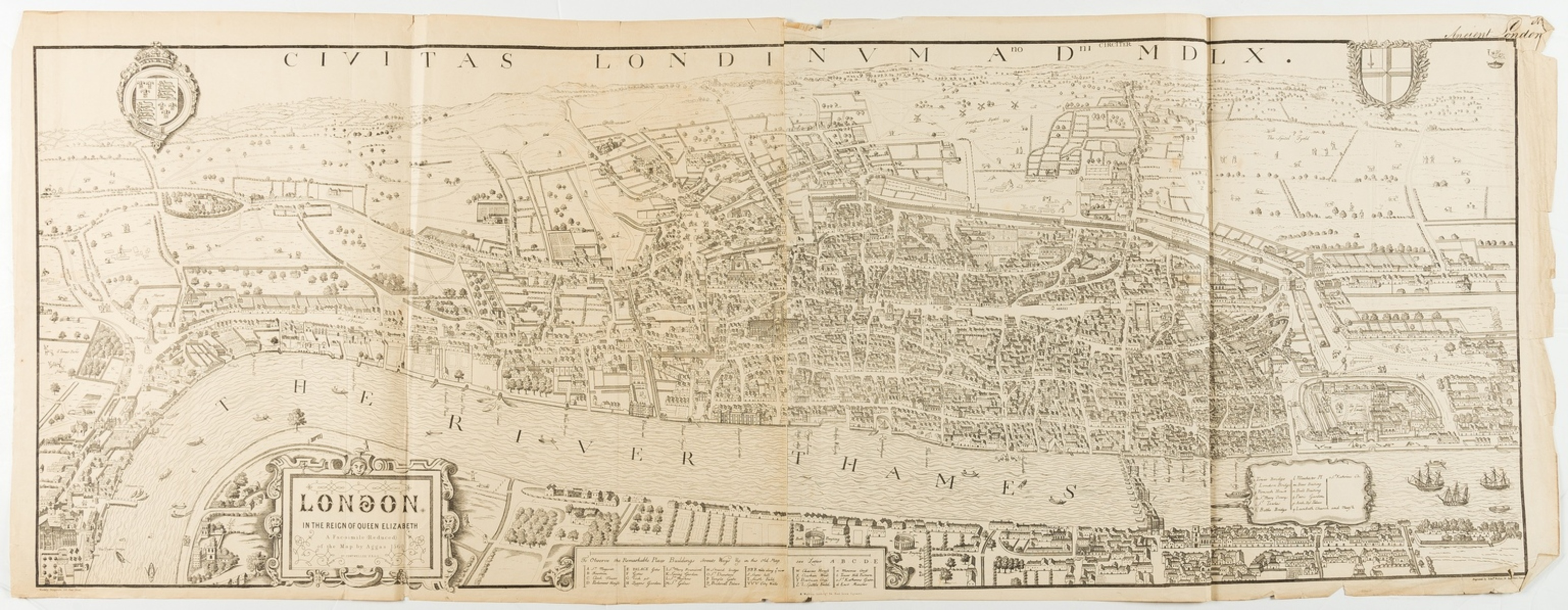 London.- Agas (Ralph), After. London in the reign of Queen Elizabeth, [c. 1880]; and 4 further …