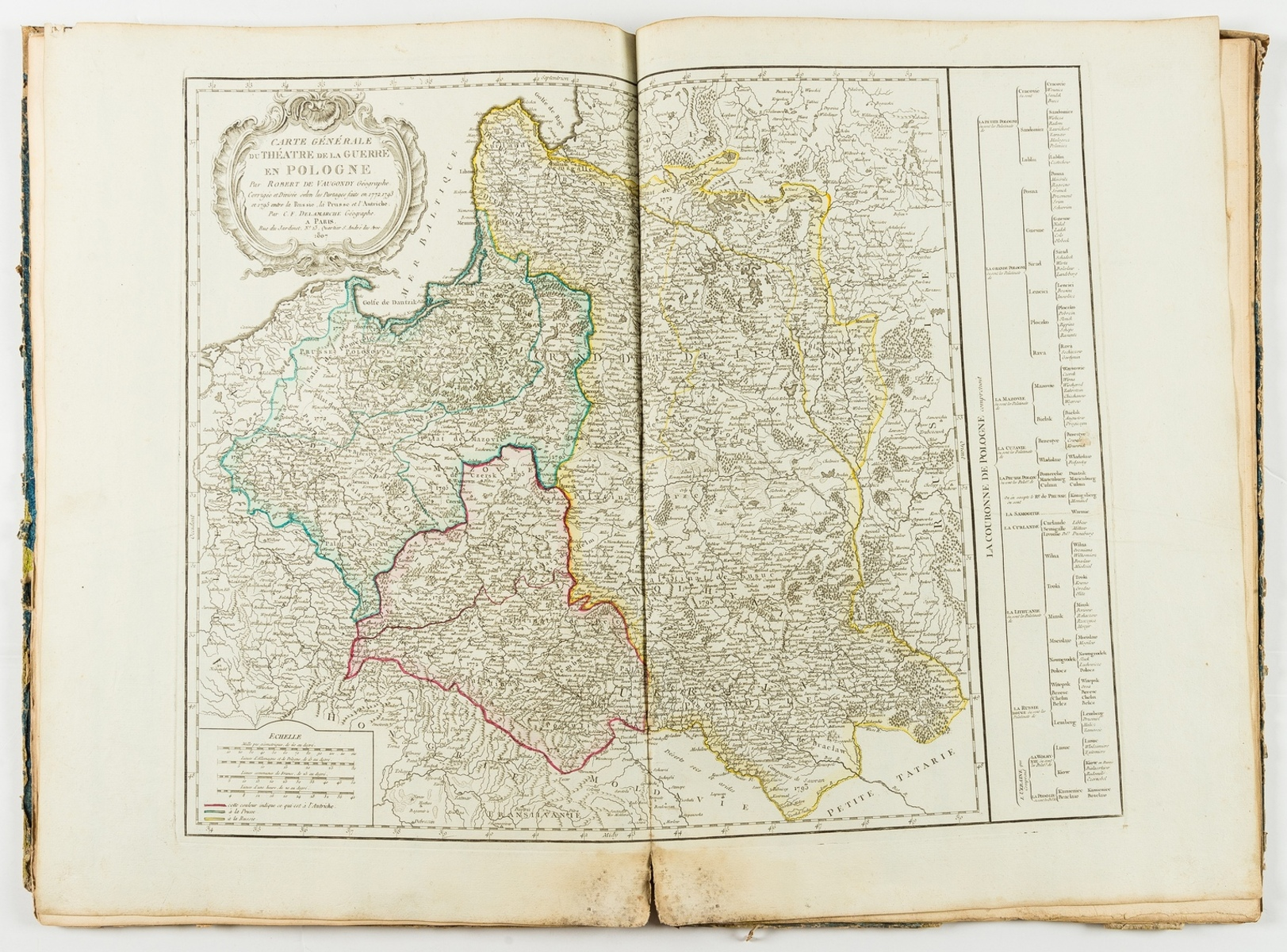 Delamarche (Charles-François) and others. Composite atlas containing 13 double-page maps, [c.1825]