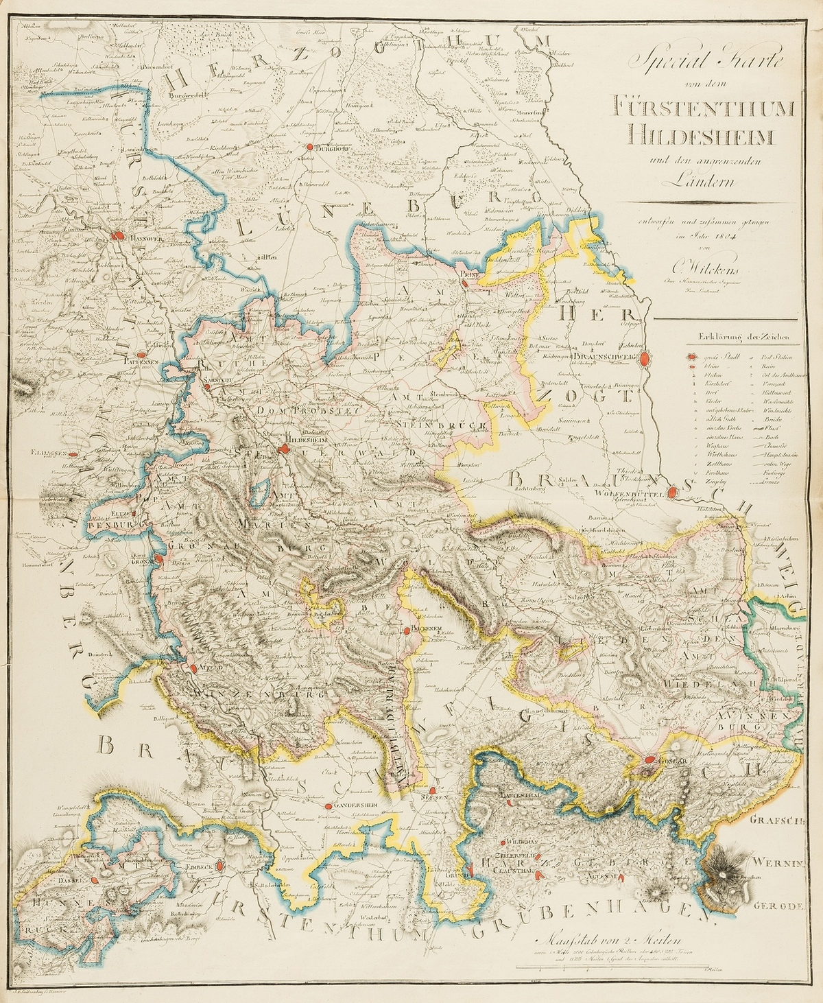 Germany.- Wilckens (C.) Special Karte von dem Fürstenthum Hildesheim und den angrenzenden Landern, …