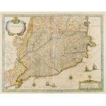 Spain.- Blaeu (Willem Jansz.) Catalonia, [c.1635]