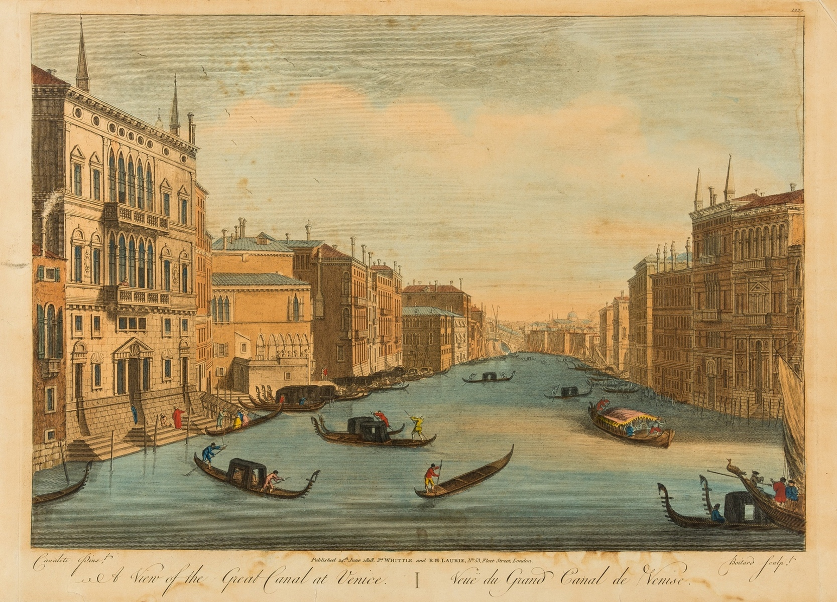 Italy.- Vues d'optique.- Six views of Venice and Florence, after Canaletto and Zocchi, [c. …