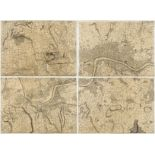 London.- [Rocque (John) and Richard Parr] Central section and parts of Rocque's 'An Exact Survey …