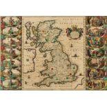 British Isles.- Jansson (Jan) Britannia prout divisa suit temporibis Anglo-Saxonum praesertim …