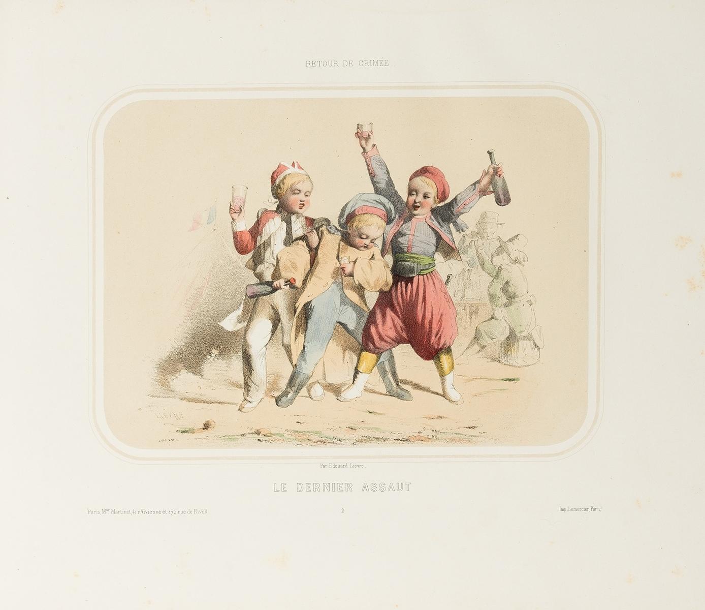 Crimea.- Lièvre (Édouard) Retour de Crimée, Paris, c.1850; and another on the Crimean War (3)