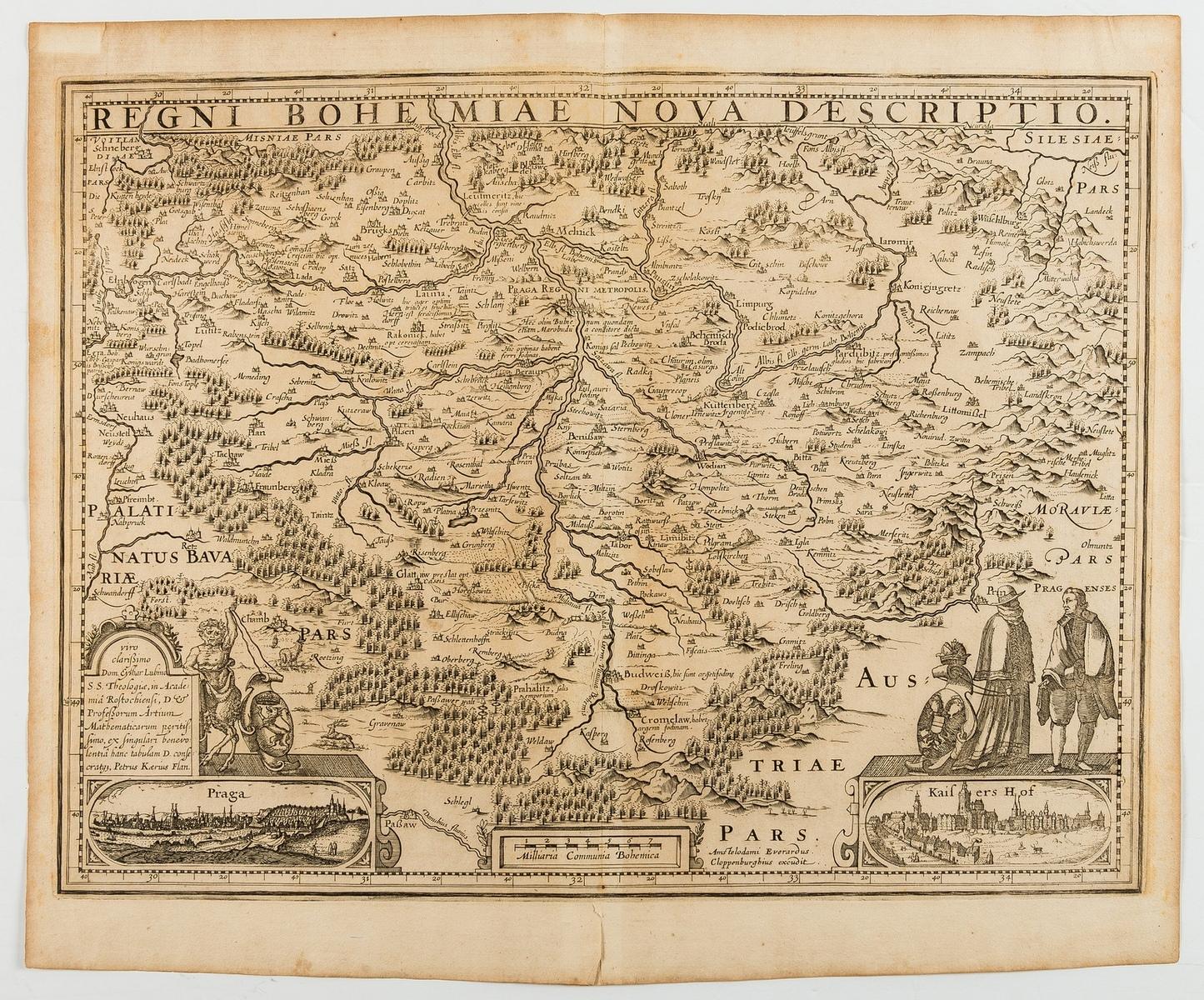 Central & Eastern Europe.- Bohemia.- Cloppenburg (Johannes) Regni Bohemiae Nova Descriptio, …