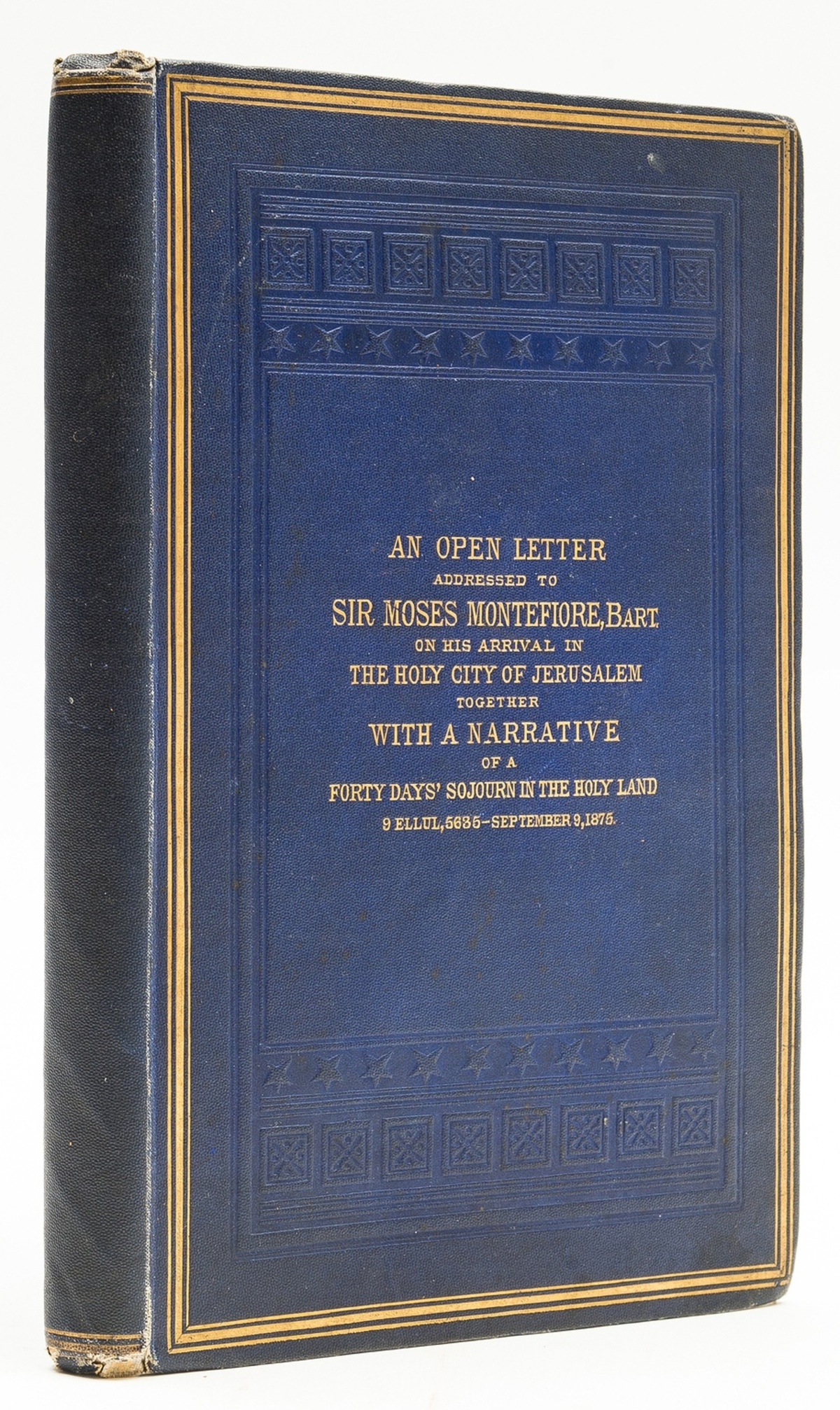 Middle East.- Auerbach (Rev. Meyer) and Rev. Samuel Salant. An Open Letter Addressed to Sir Moses …