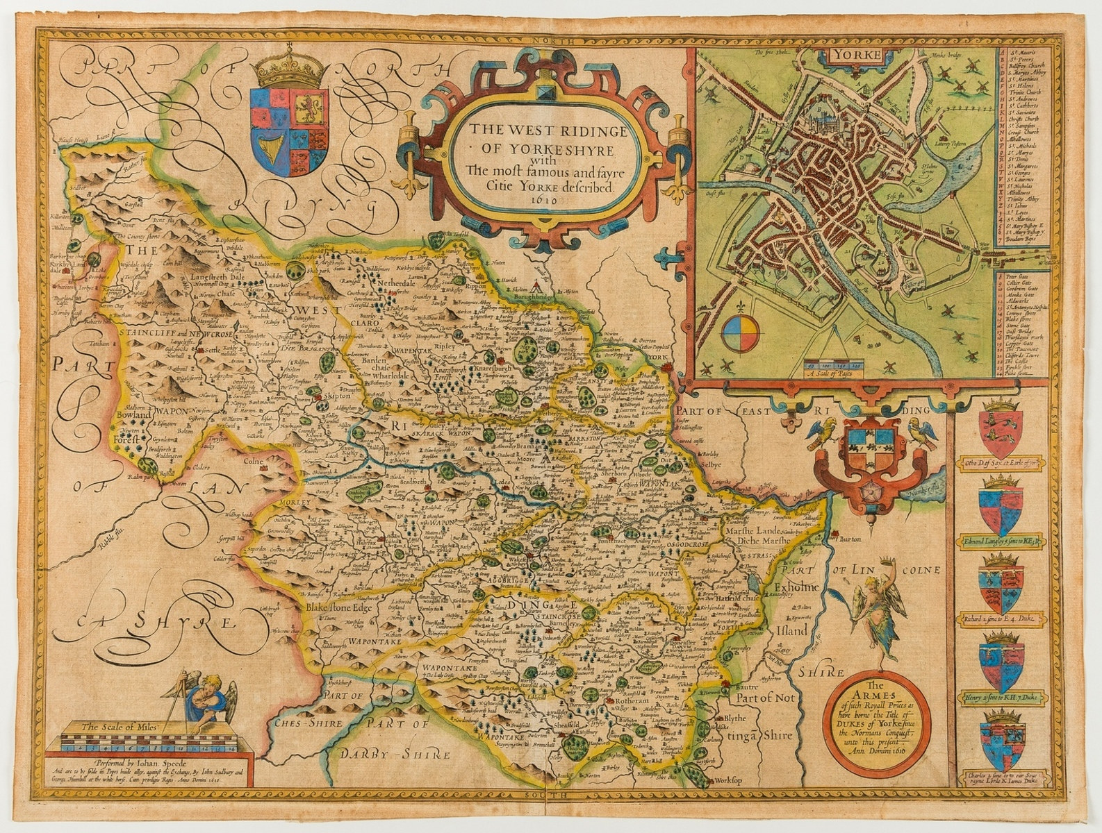 Yorskhire.- Speed (John) York Shire [and] The North and East Ridins of Yorkshire [and] The West …