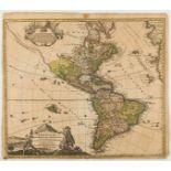 Americas.- Homann (Johann Baptist) Totius Americae Septentrionalis et Meridionalis Novissima …