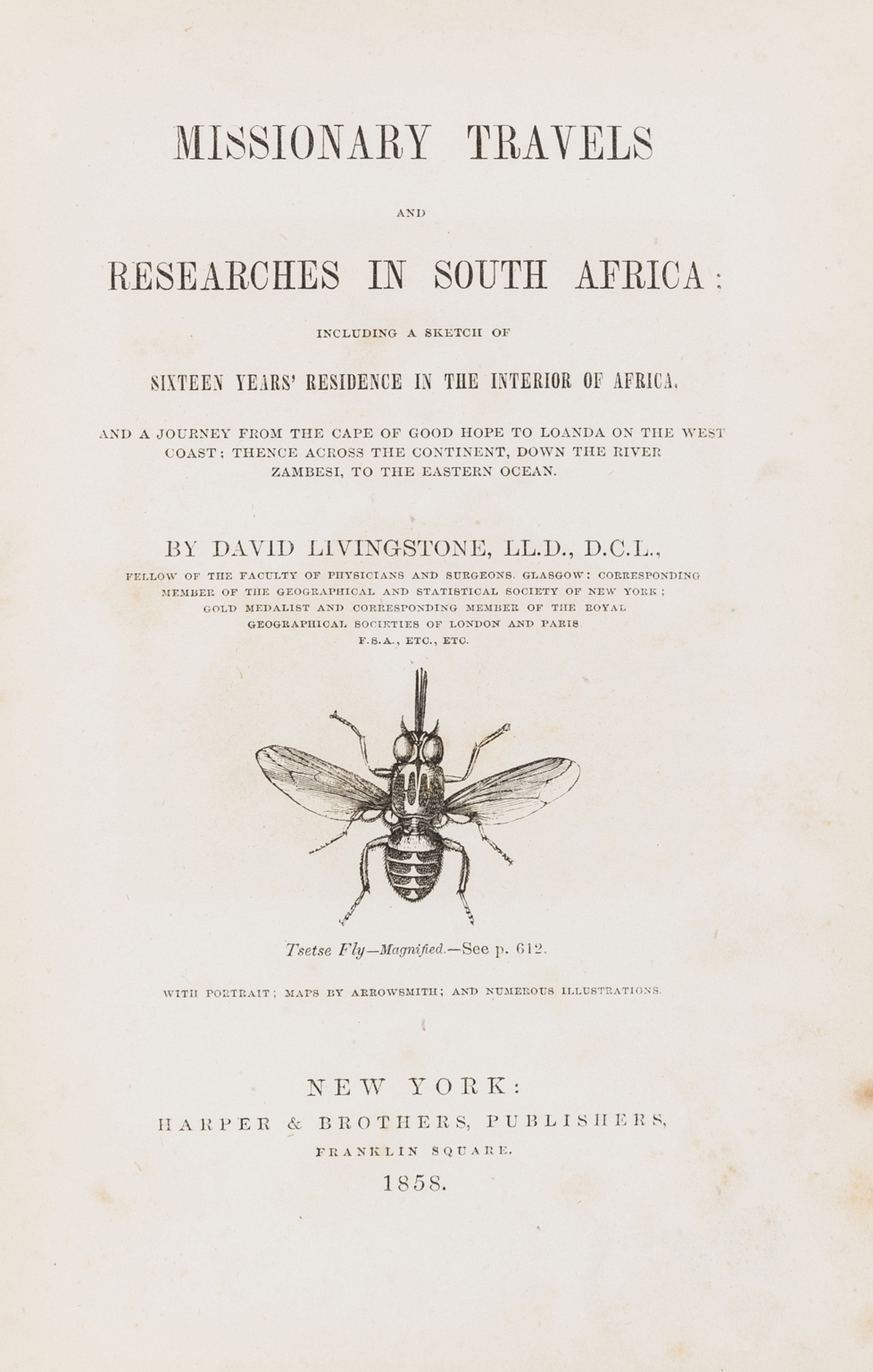 Africa.- Livingstone (David) Missionary Travels and Researches in South Africa, first American … - Image 2 of 2