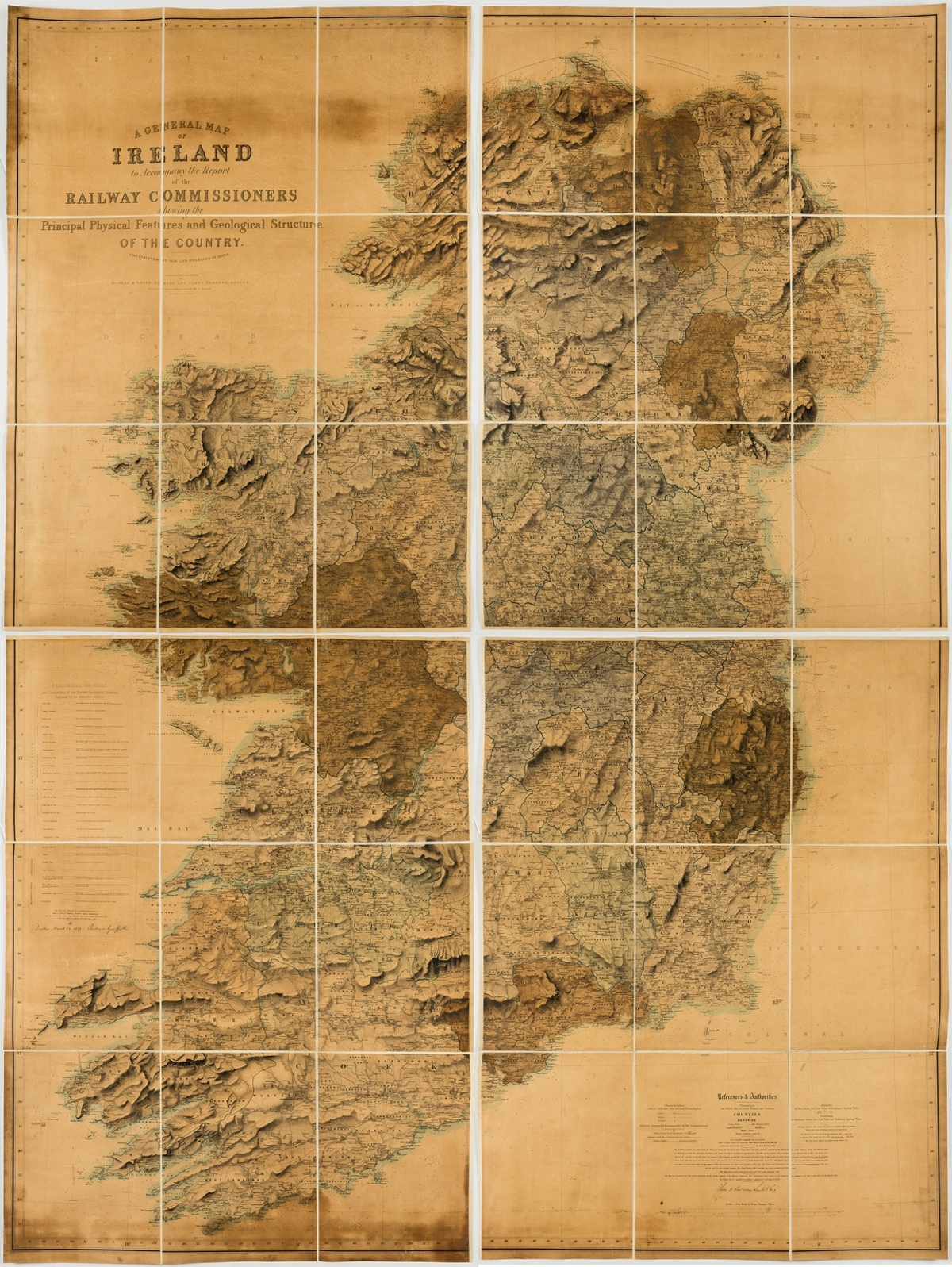 Ireland.- Griffiths (Richard) A General Map of Ireland to Accompany the Report of the Railway …
