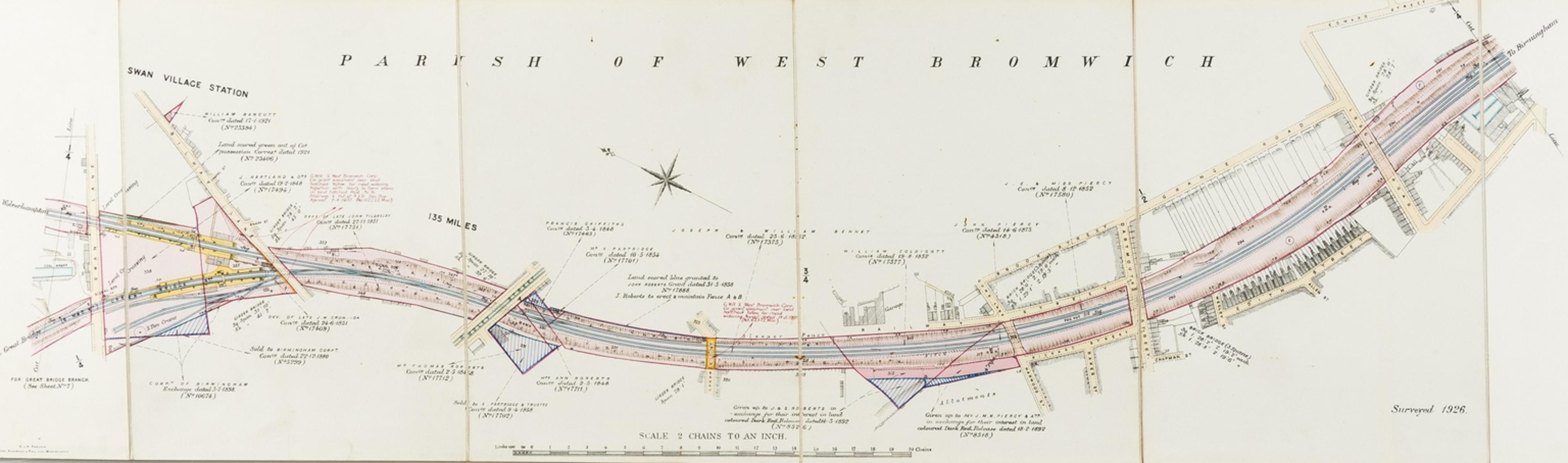 Railways.- Great Western Railway.- [Plan of the Birmingham Wolverhampton & Dudley line from …