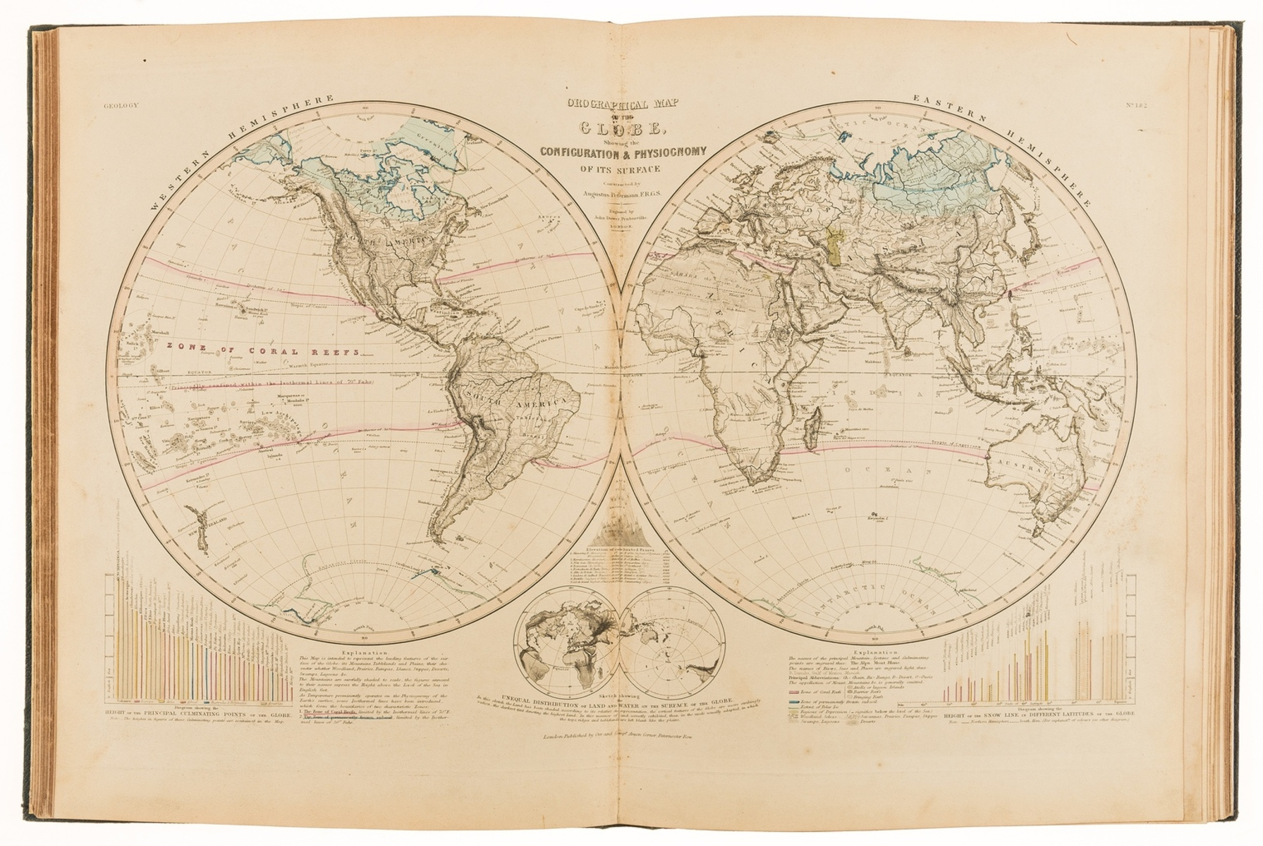 Atlases.- Petermann (Augustus) & Rev. Thomas Milner. The Atlas of Physical Geography..., 1851; and …