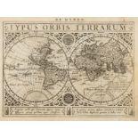 World.- Goos (Abraham) Typus Orbis Terrarum, [c.1630].