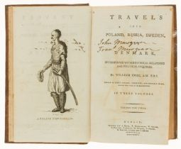 Europe.- Coxe (William) Travels into Poland, Russia, Sweden, and Denmark, 3 vol., Dublin, 1784.