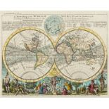 World.- Moll (Herman) A New Map of the Whole World with the Trade Winds According to ye Latest and …