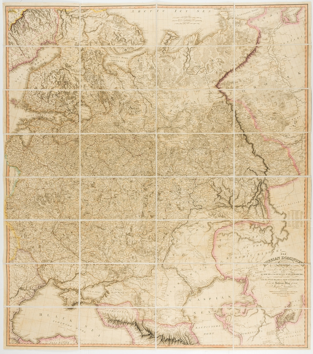 Russia.- Faden (William) The Russian Dominions in Europe, Drawn from the Latest Maps, 1808; and 4 …
