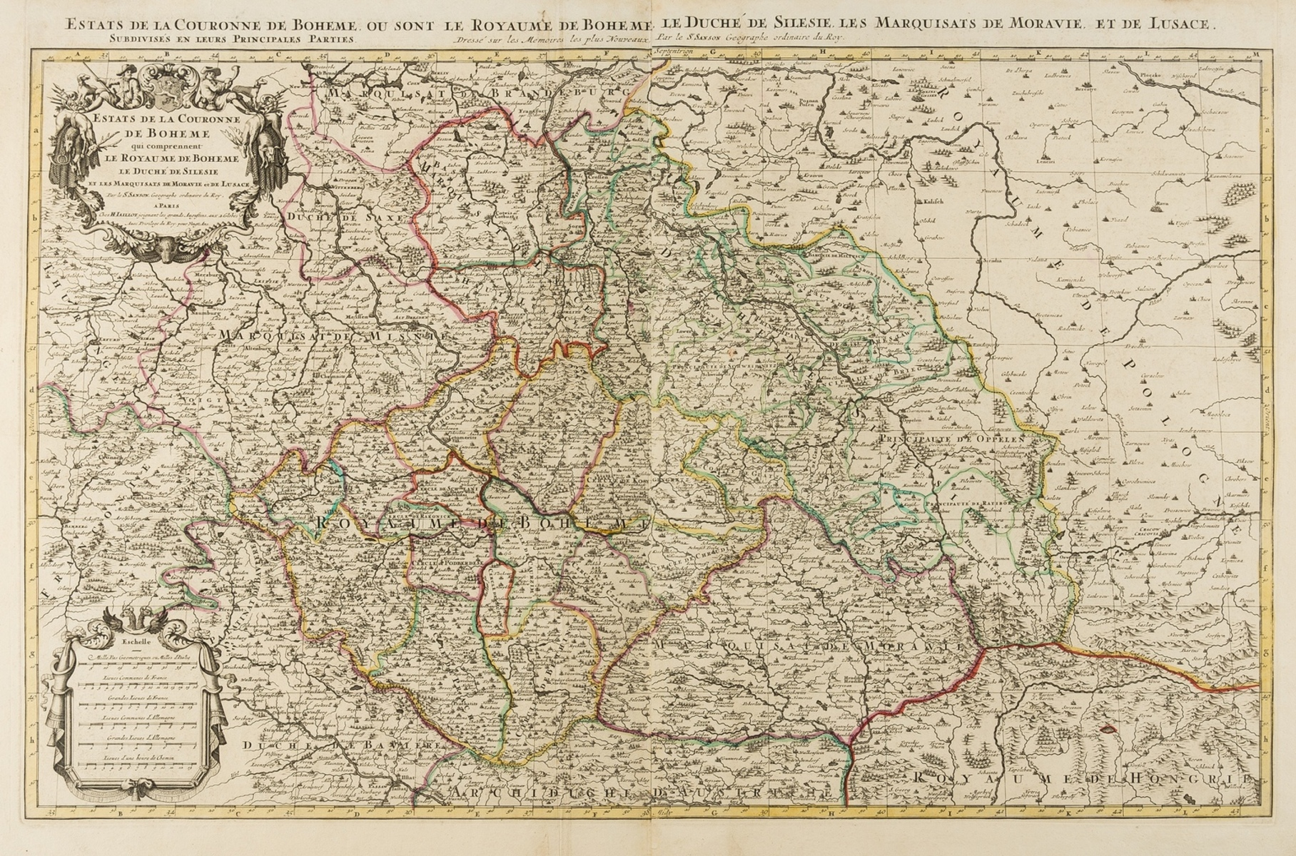 Bohemia & Austria.- Jaillot (Alexis-Hubert) Estats de la Couronne de Boheme qui comprennent le …