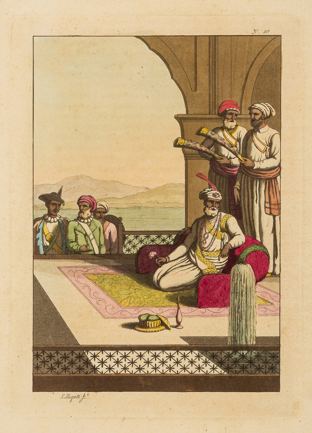 India.- Collection of 10 aquatint plates with hand-colouring on scenes in India, [early 19th … - Image 4 of 4