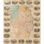 Ireland.- Heffernan (Daniel Edward) Heffernan's Illustrated Plan of Wicklow &c., 1861.