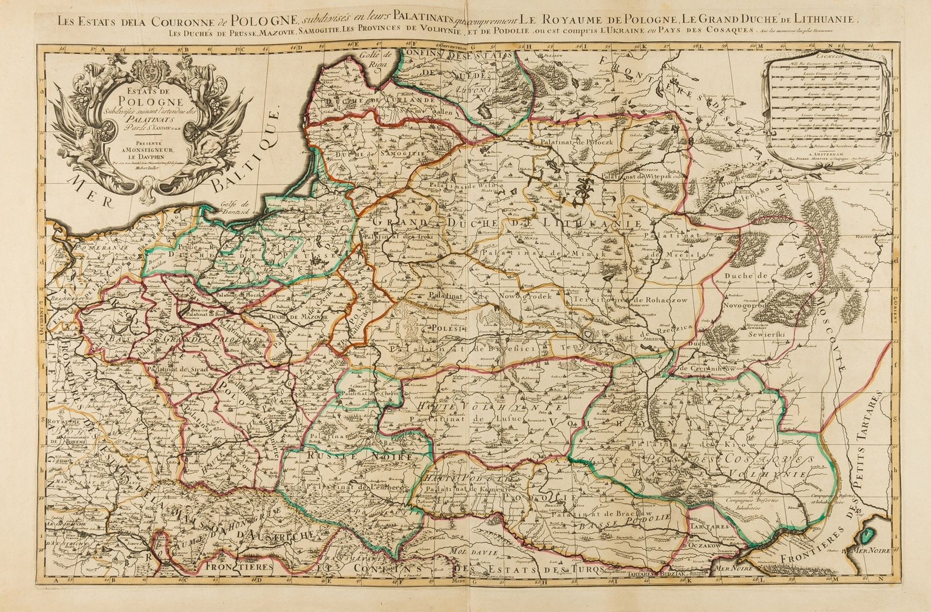 Central & Eastern Europe.- Mortier (Pierre) Estats De Pologne Subdivises suivant l'estendue des …