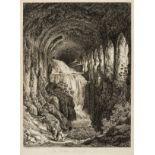 Italy.- Reinhardt (Johann Christian) In Villa Mecenate a Tivoli, etching, 1793.