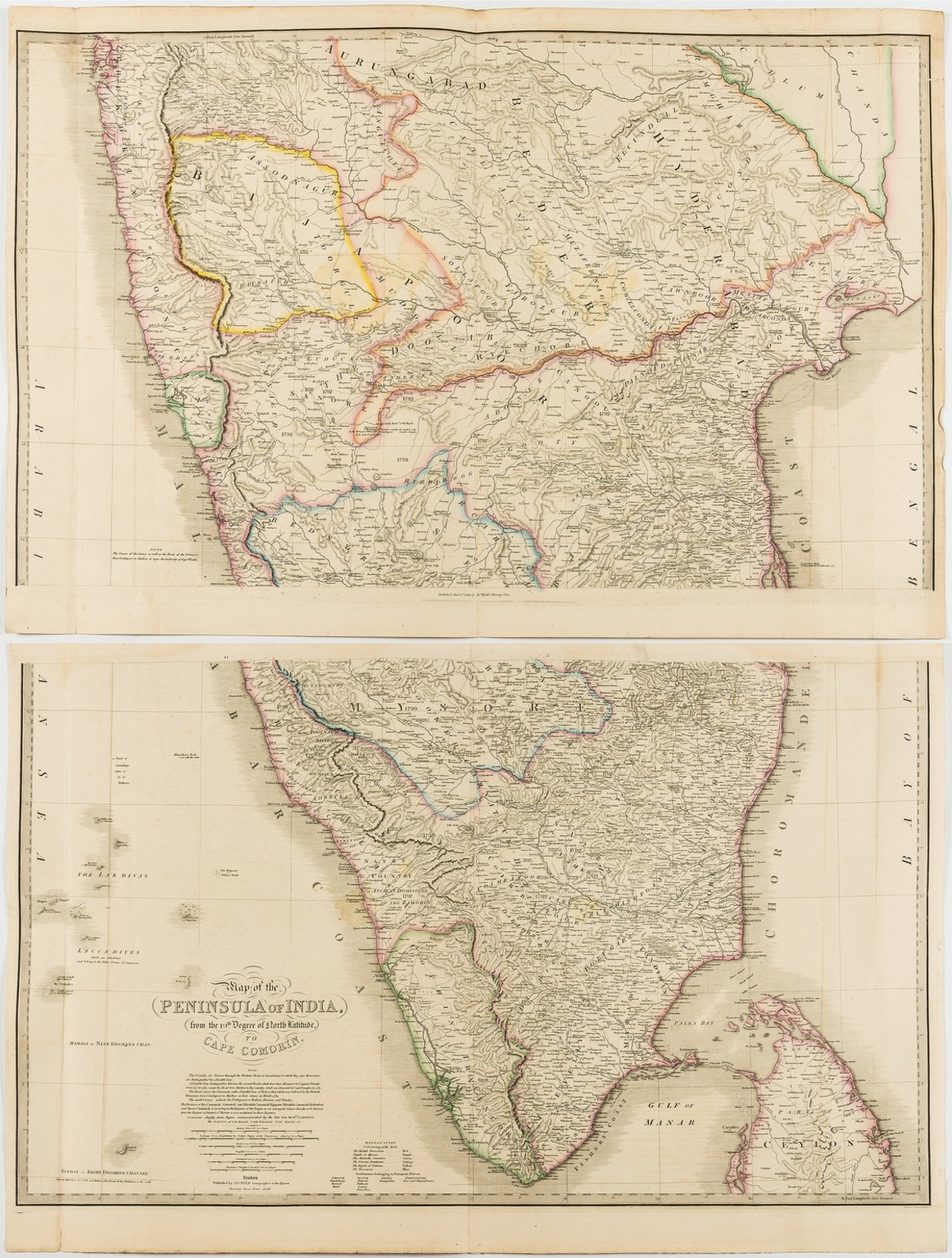 India.- Wyld (James) Map of the Peninsula of India, from the 19th Degree of North Latitude, to …