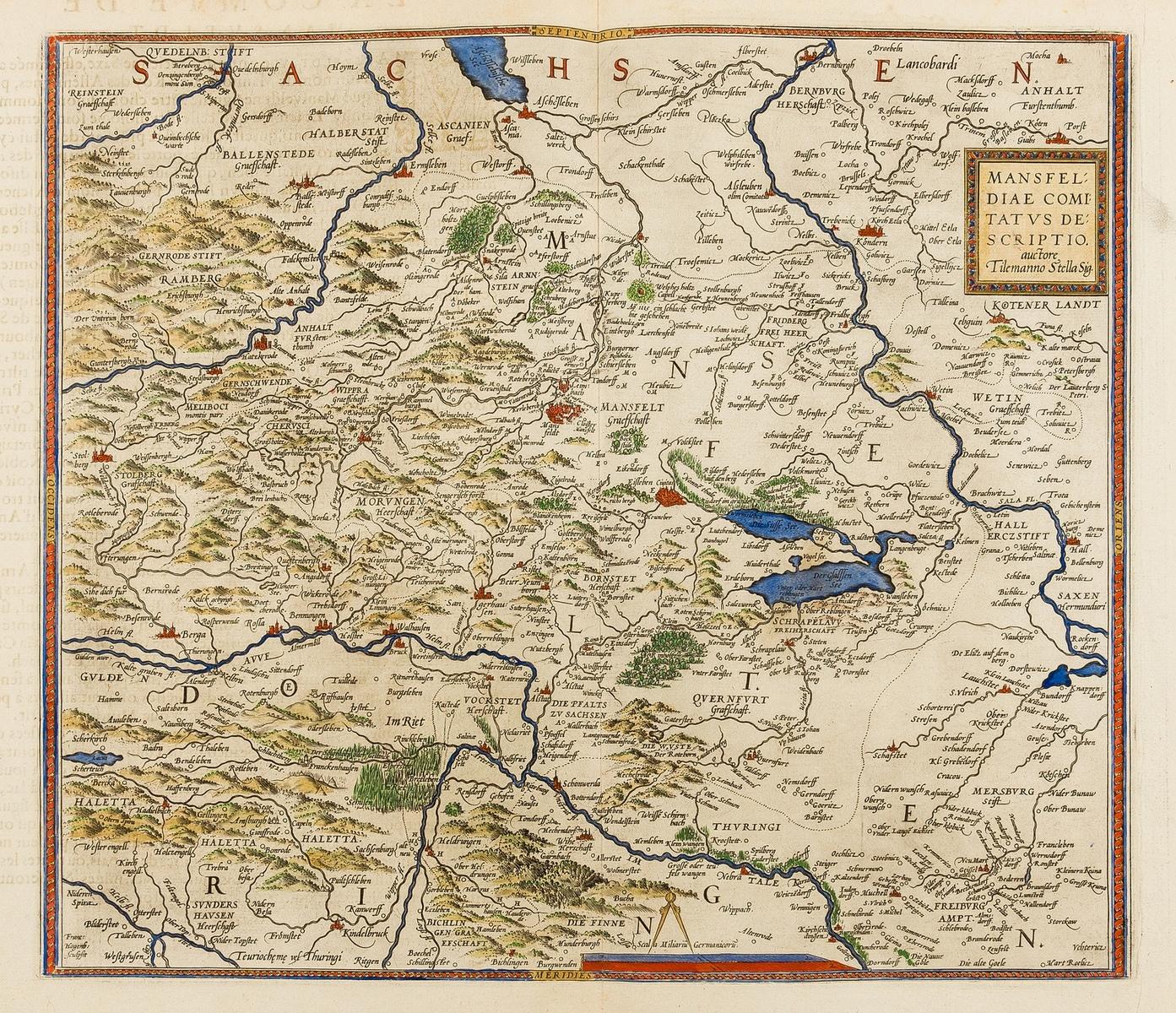 Germany.- Ortelius (Abraham) Mansfeldiae Comitatus Descriptio. Auctore Tilemanno Stella Sig., …