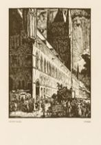 Belgium.- Brangwyn (Frank) Belgium, number 61 of 160 copies signed by author, 1916; and another, …