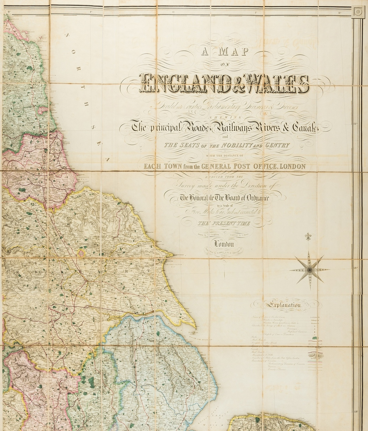England & Wales.- Lewis (Samuel) A Map of England & Wales Divided into Counties, Parliamentary …