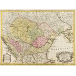 Central Europe.- Lotter (Tobias Conrad) Tabula Hungaria, [c. 1760]; together with 'Mappa …