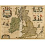 British Isles.- Hondius (Henricus) Magnae Britanniae et Hiberniae Tabula, 1631.