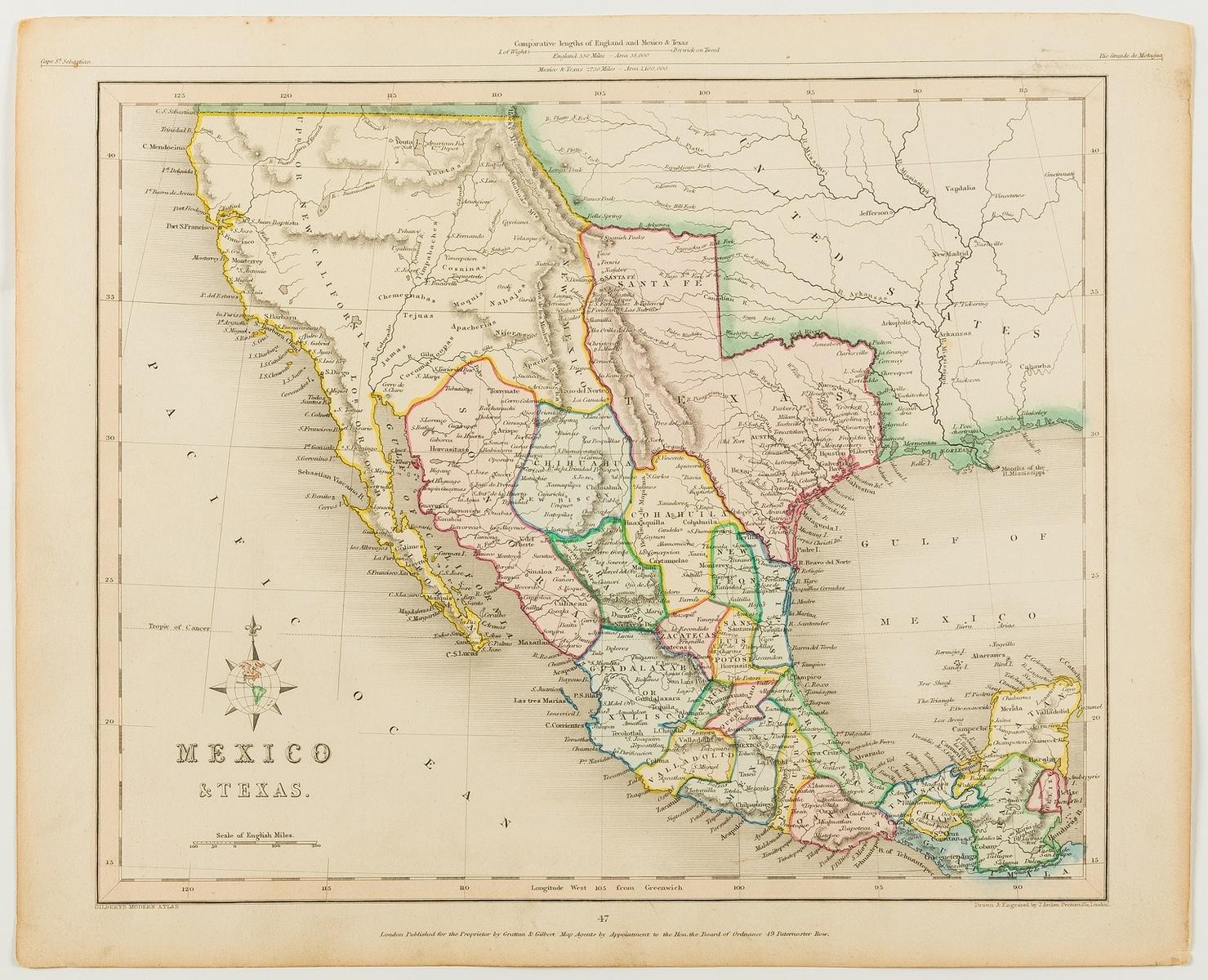 Americas.- Gilbert (James) Mexico & Texas, [c. 1845].