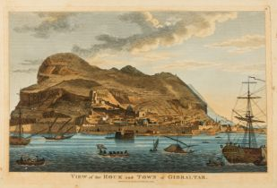 Gibraltar.- Laurie (Richard Holmes) View of the Rock and Town of Gibraltar, engraving with …