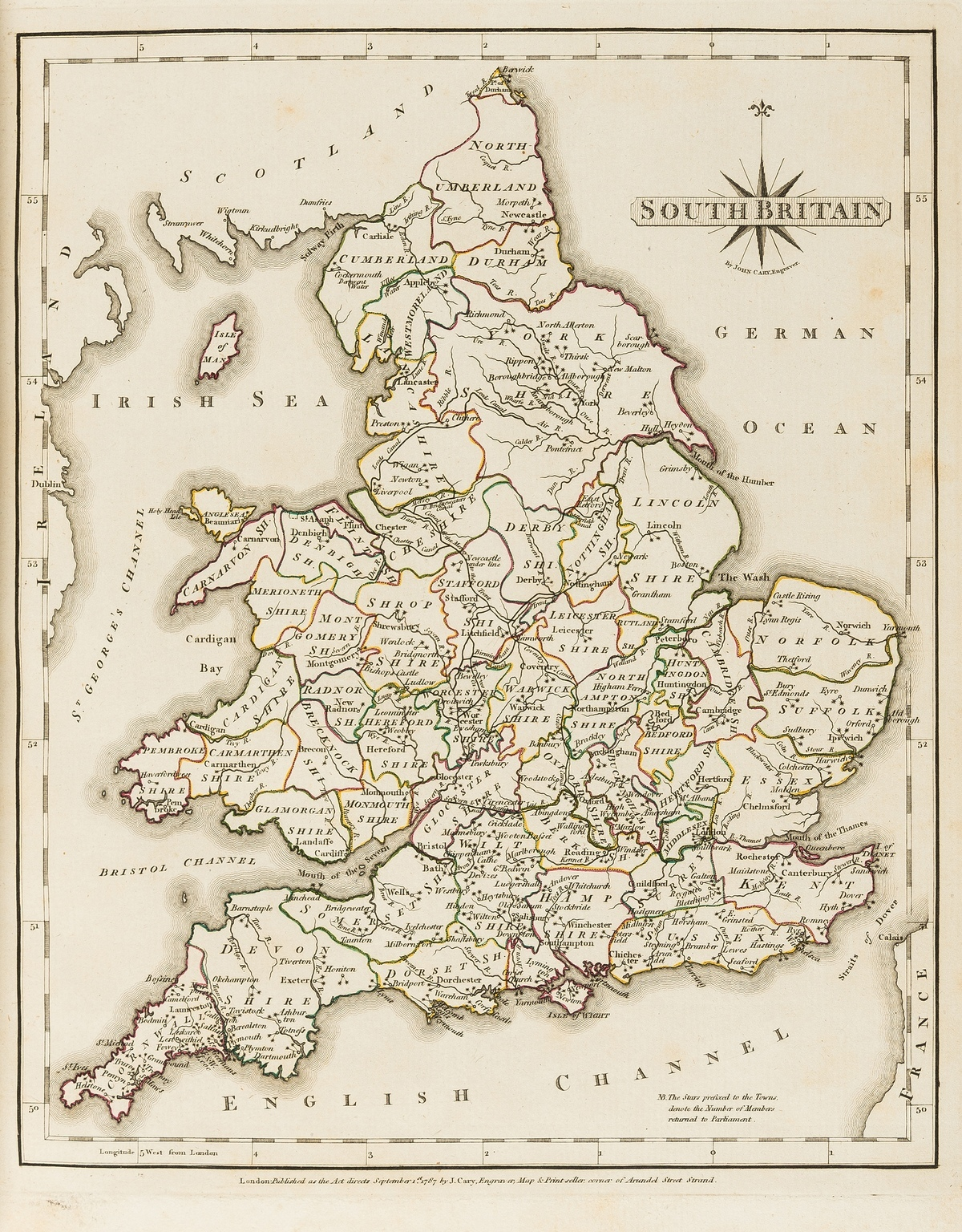 England & Wales.- Cary (John) Cary's New and Correct English Atlas being A New Set of County Maps, …