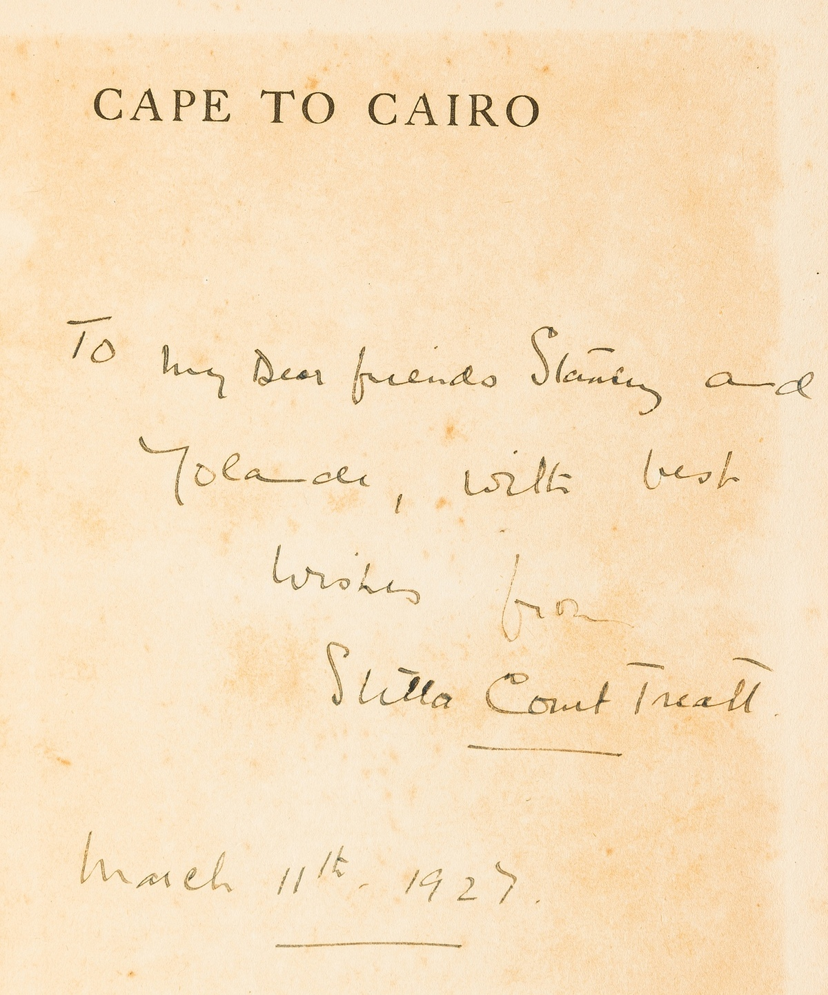Africa.- Treatt (Stella Court) Cape to Cairo: the Record of a Historic Motor Journey, first … - Image 2 of 2