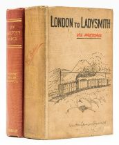 Africa.- Churchill (Winston S.) London to Ladysmith via Pretoria, first edition, 1900; and another …