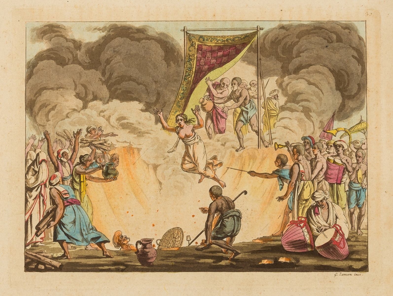 India.- Collection of 10 aquatint plates with hand-colouring on scenes in India, [early 19th … - Image 3 of 4
