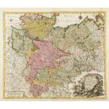 Germany.- Lotter (Tobias Conrad) Saxoniae Inferioris Circulus; Saxoniae Superioris, two maps, …