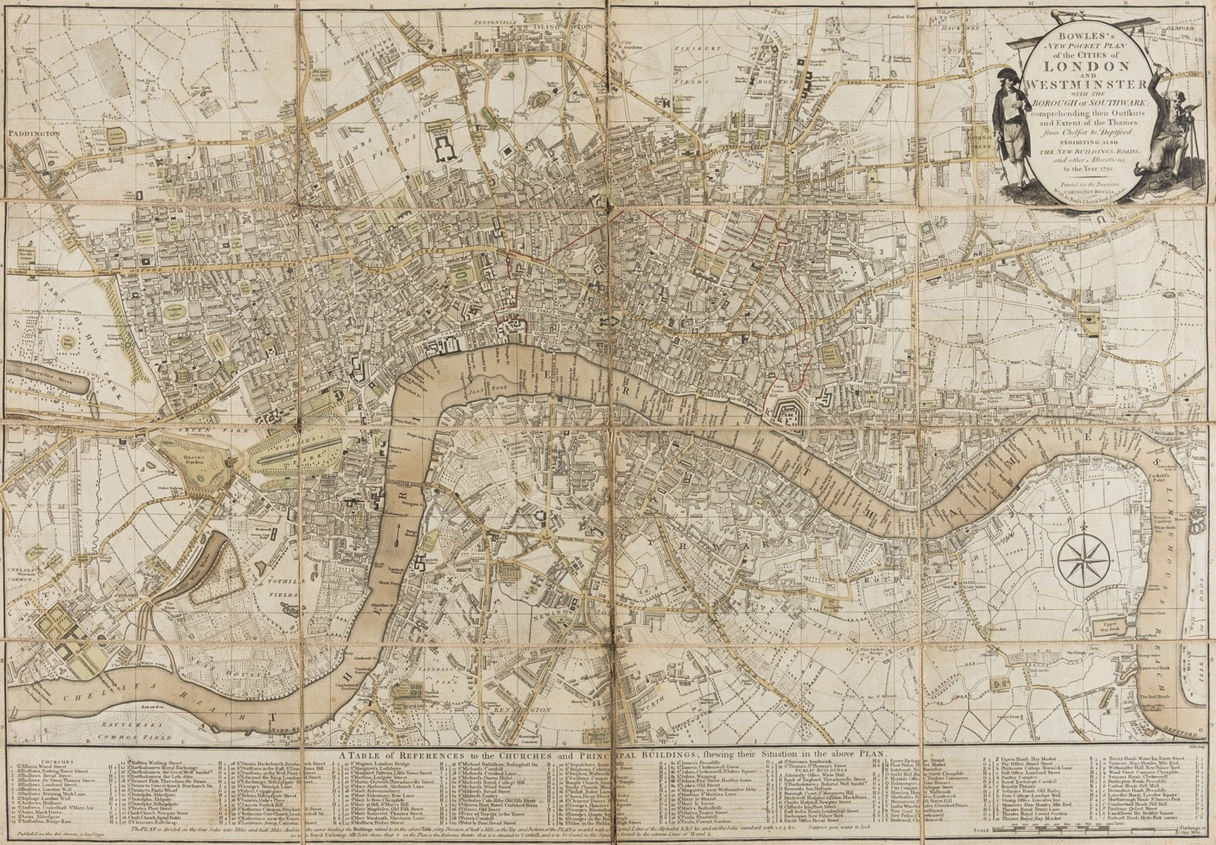 London.- Bowles (Carington, publisher) Bowles's New Pocket Plan of the Cities of London and …