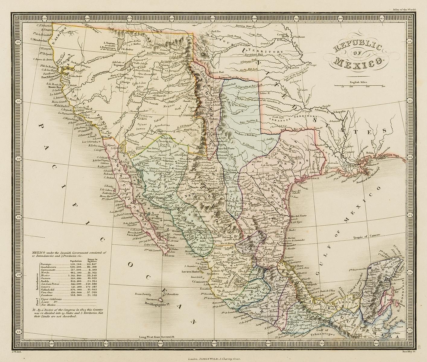 Americas .- Wyld (James) Republic of Mexico, [c. 1845].
