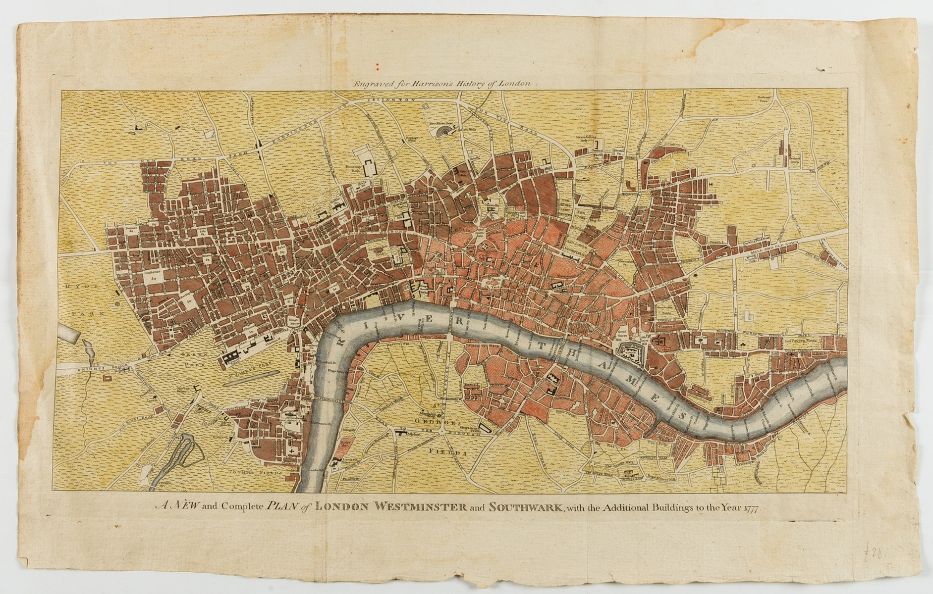 London.- Harrison (Walter) A New and Complete Plan of London, Westminster and Southwark, with the …