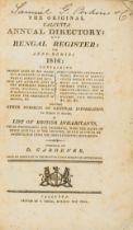 India.- Gardener (D.) The Original Calcutta Annual Directory and Bengal Register for Anno Domini …