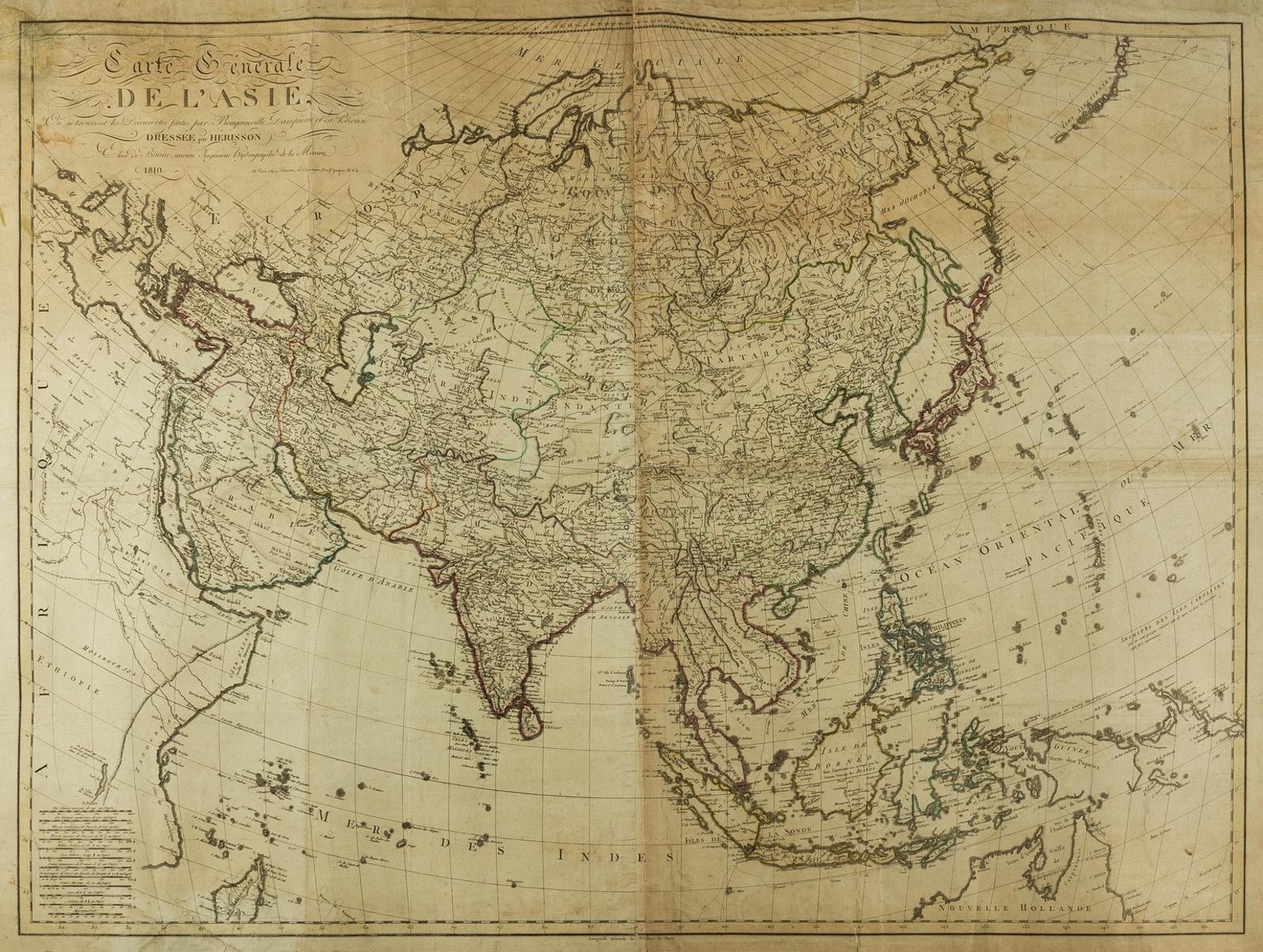 Asia.- Bonne (Rigobert) Carte Generale de l'Asie..., 1810.