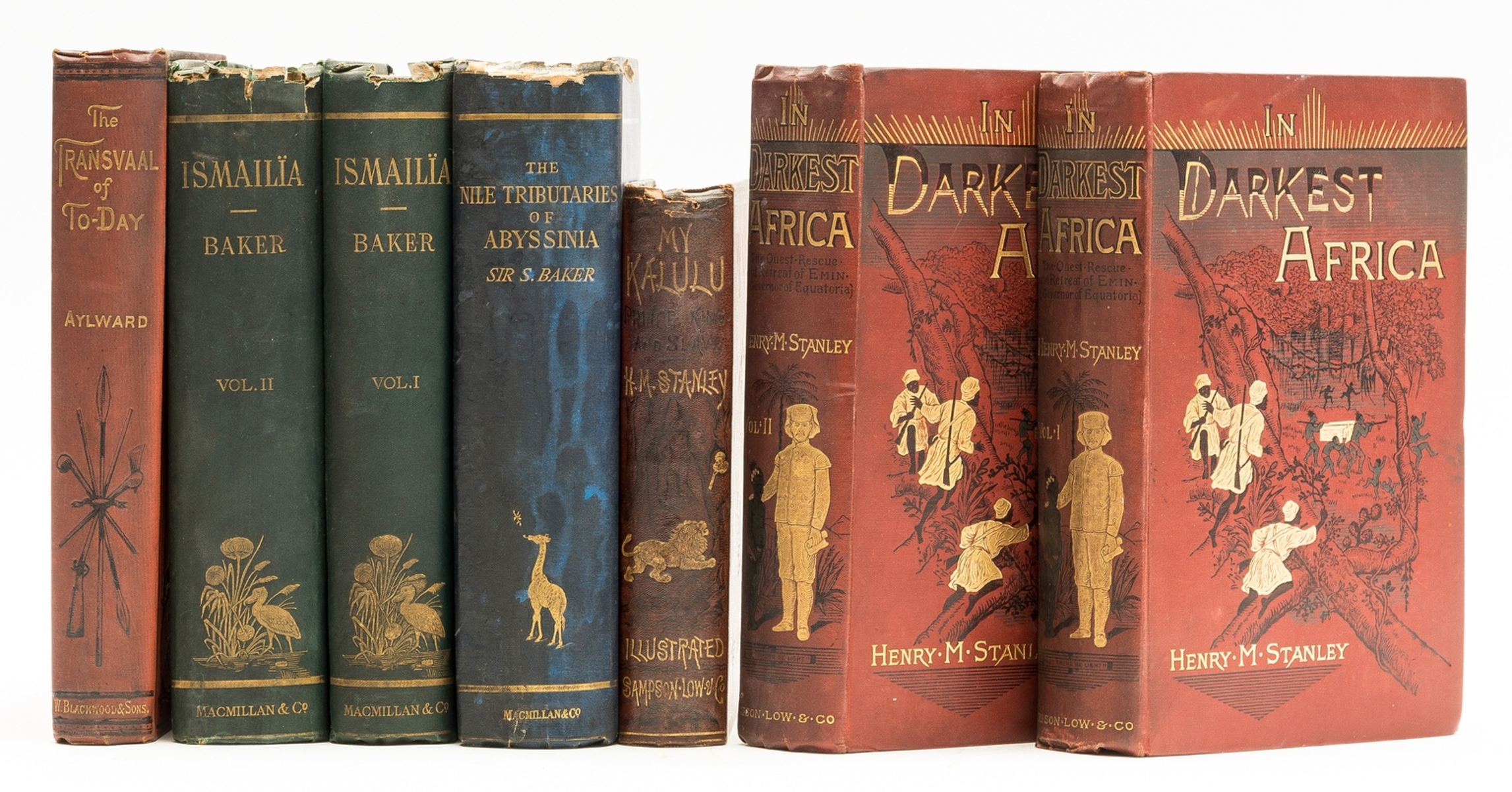 Africa.- Stanley (Henry Morton) In Darkest Africa, 2 vol., original pictorial cloth, 1890 & …